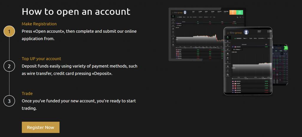 Eiro Group account opening